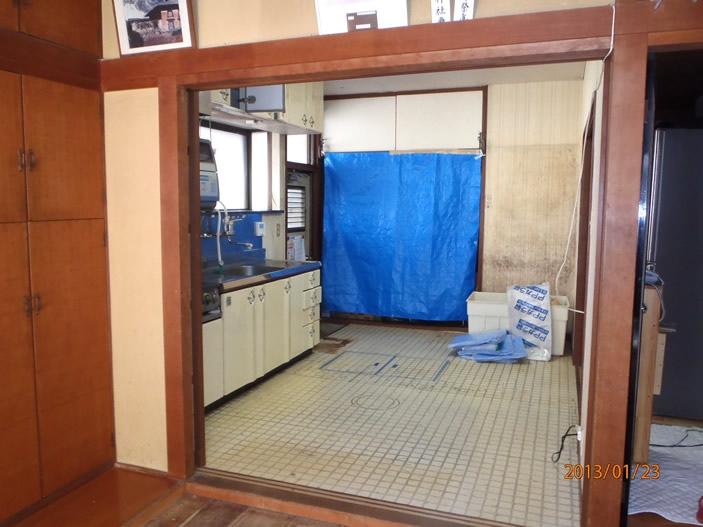 H様邸キッチン改修工事施工前