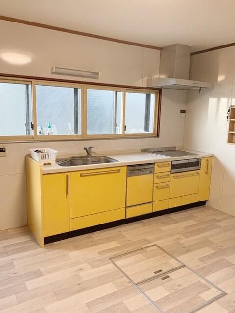 キッチンのクッションフロア張り替え工事🛠